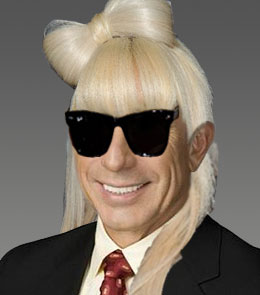 Buck Martinez with a Lady Gaga Hairstyle + Sunglasses